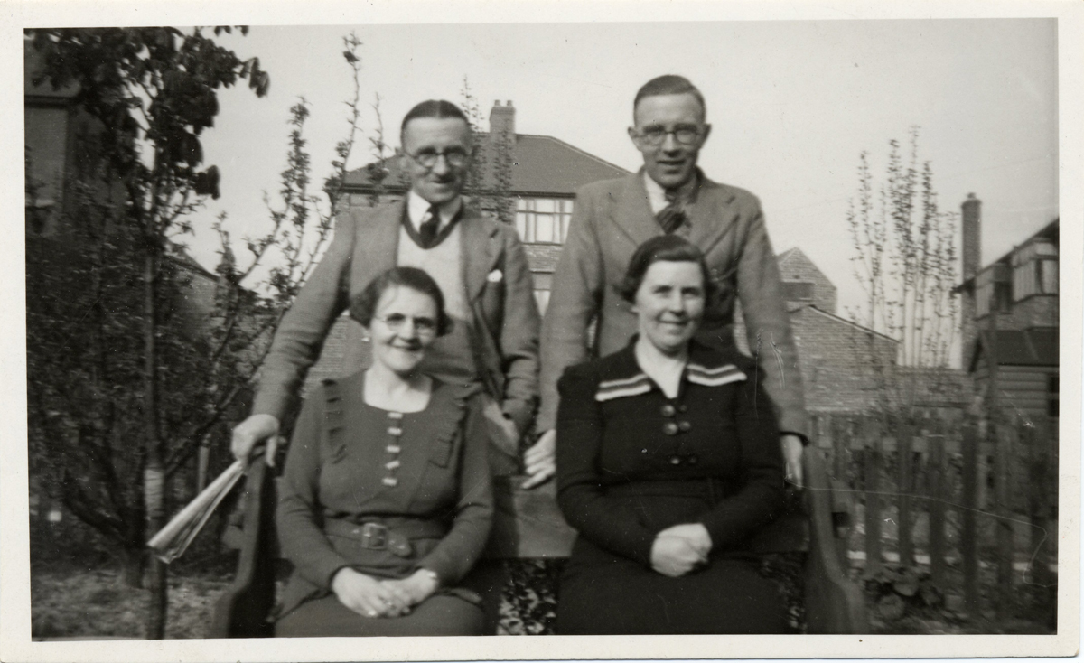 Left to right from the back Ronald, Arthur, Isabel and Marion Bagnall