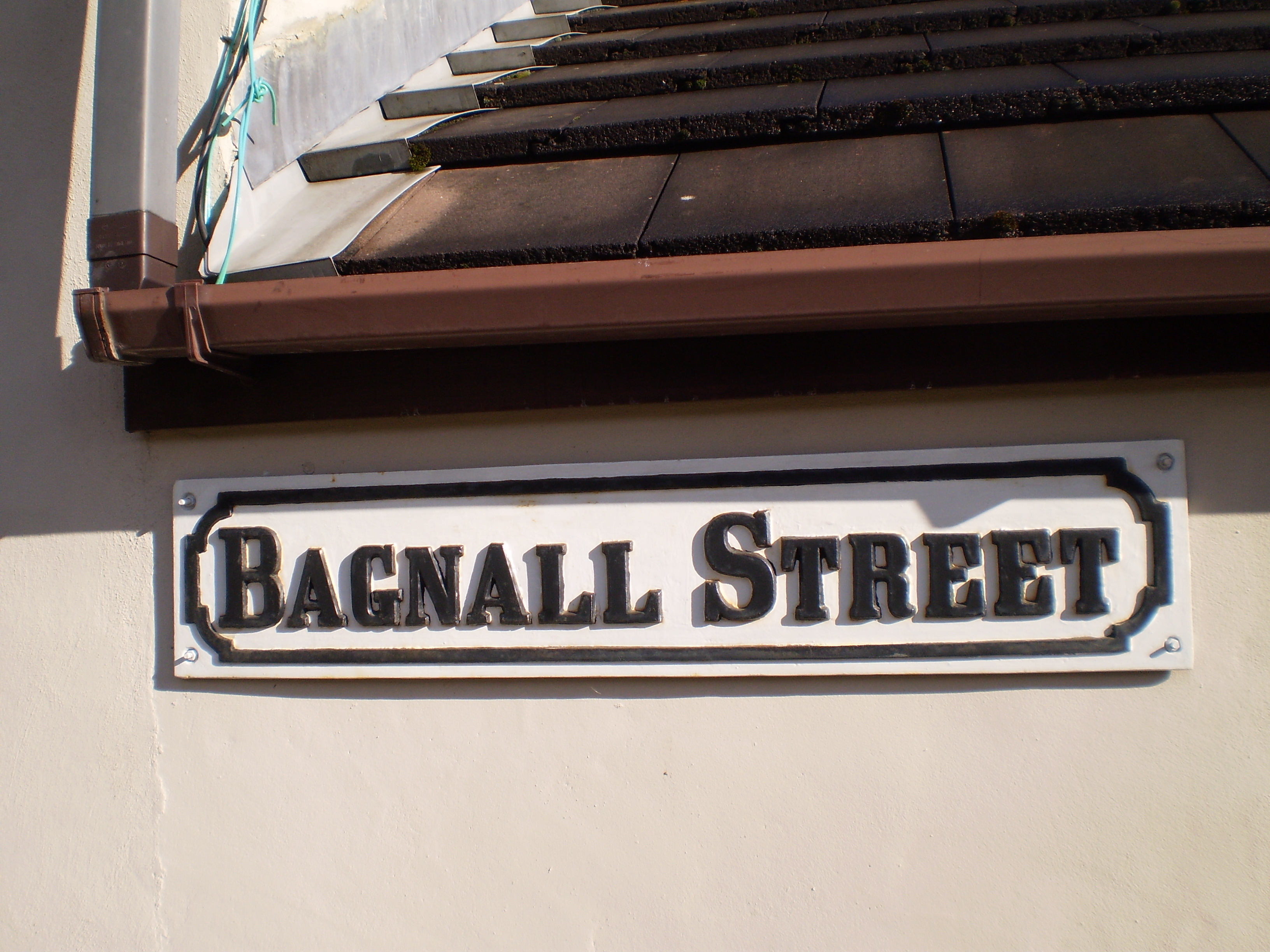 The Bagnall Street Sign